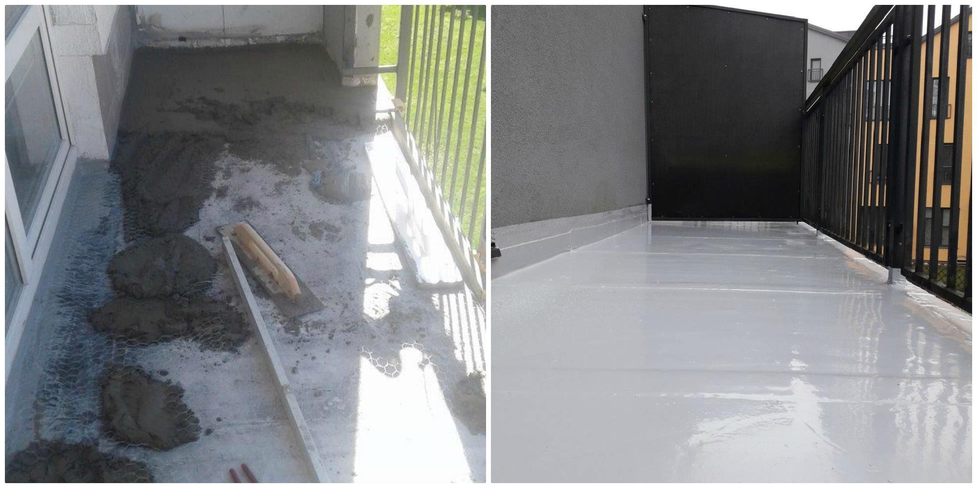 Balkono ardymas, betonavimas, hidroizoliacija