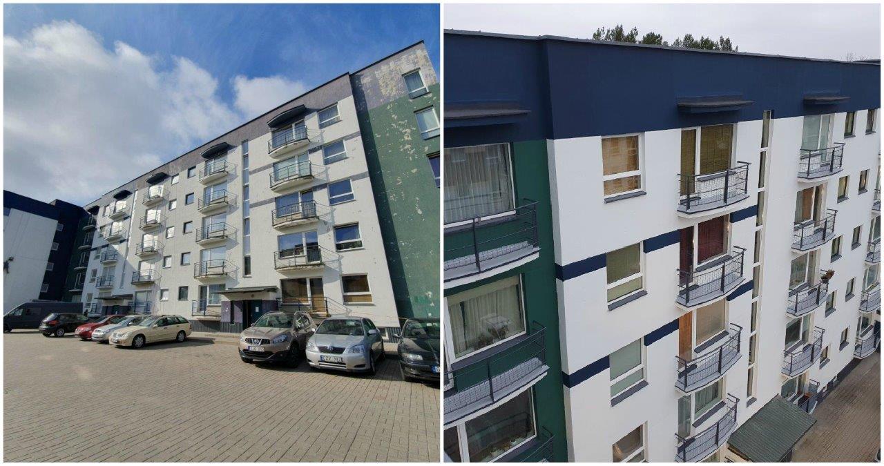 Balkonų hidroizoliacija su HYPERDESMO danga, fasado atnaujinimo darbai